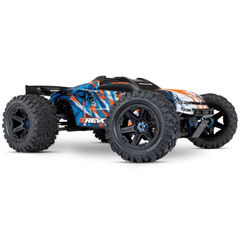 Автомобиль Traxxas E-Revo 2.0 Brushless Monster 1:10 RTR 585 мм 4WD TSM 2,4 ГГц (86086-4 Orange)