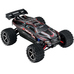 Автомобиль Traxxas E-Revo VXL Brushless Monster 1:16 RTR 328 мм 4WD TSM 2,4 ГГц (71076-3 Black)